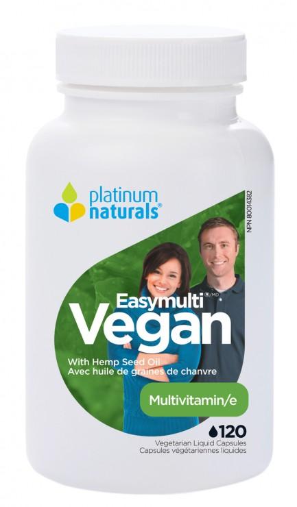 Easymulti Vegan Multivitamin, 120 Veg Liquid Capsules (Platinum Naturals)