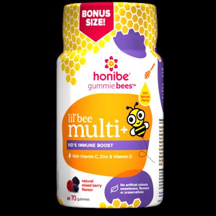 Lil' Bee Multi Kids Immune Boost 70 Gummies (Honibe)