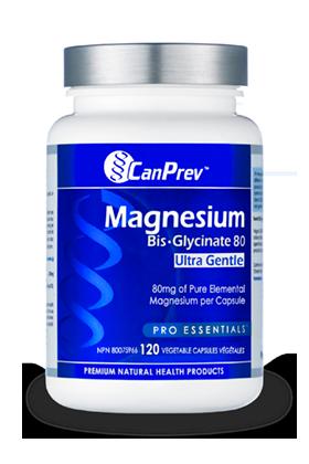 Magnesium Bis-Glycinate 80 Ultra Gentle, 120 vcaps (CanPrev)