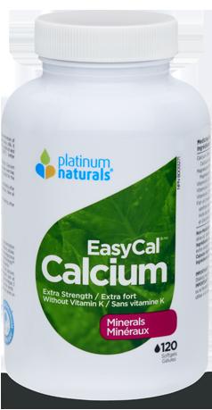 EasyCal Calcium Extra Strength 120 Softgels (Platinum Naturals)