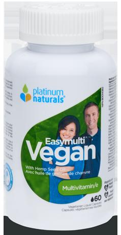 Easymulti Vegan 60 Veg Liquid Capsules (Platinum Naturals)