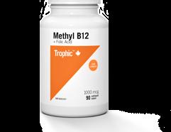 Methyl B12 (+ Folic Acid) 1000mcg 90 Sublingual Tablets (Trophic)