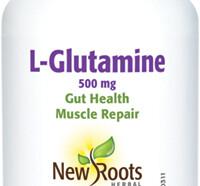 L-Glutamine 500mg, 50 vegetable capsules (New Roots)